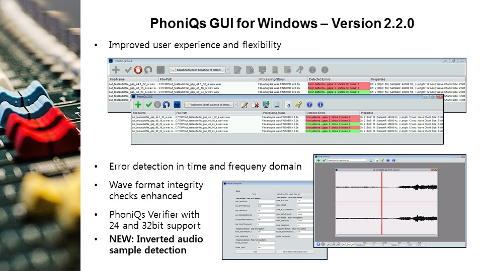 PhoniQs GUI details