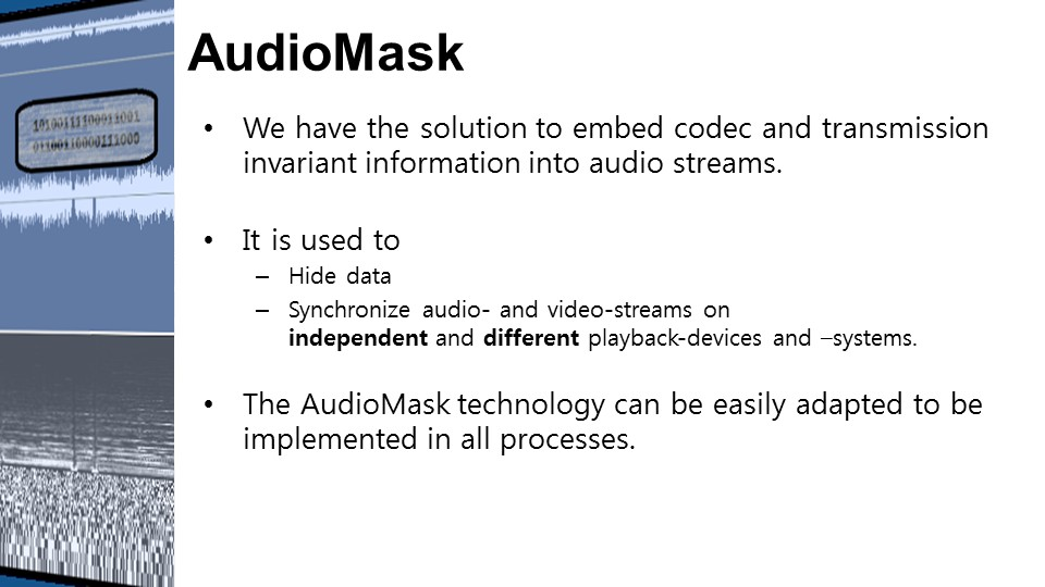AudioMask Eigenschaften