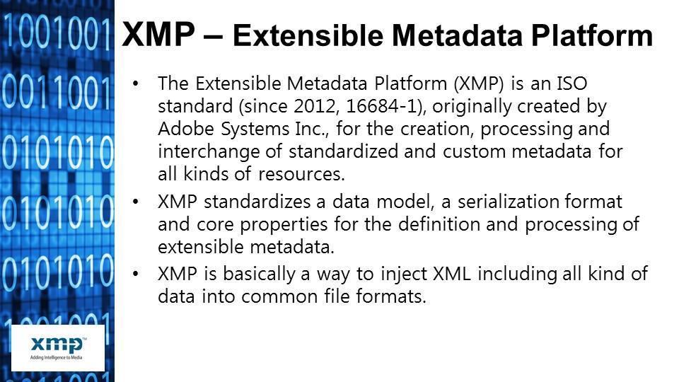 XMP toolset details